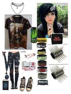 """""""Rock hit me"""" by xoxobandloverxoxo ❤ liked on Polyvore featuring Converse, Wet Seal and Kreepsville 666"""