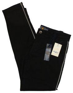NEW Lucky Brand Womens Pants SIENNA Skinny Leg Stretch Tuxedo Chino Black 29 $99 #LuckyBrand #CasualPants