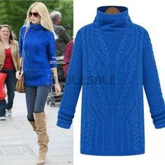 New Korean Women Thickening Slim Sleeve Jumper Turtleneck Sweater Knitted Pullovers