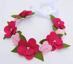 Felt Flowers, Diy Flowers, Fabric Flowers, Paper Flowers, Felt Diy, Felt Crafts, Felt Hair Accessories, Felt Headband, Headbands