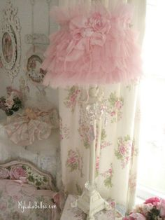 Shabby Chic Furniture – Shabby Chic News Romantic Shabby Chic, Shabby Chic Pink, Vintage Shabby Chic, Shabby Chic Homes, Shabby Chic Decor, Ruffle Lamp Shades, Pink Lamp Shade, Shabby Chic Lamp Shades, Shabby Cottage
