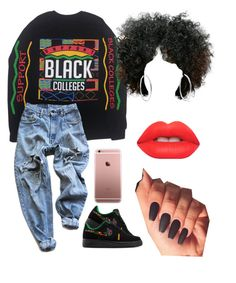 """#178:Black Lives Matter✊"" by tyyanniharris ❤ liked on Polyvore featuring NIKE, Levi's, Michael Kors and Lime Crime"