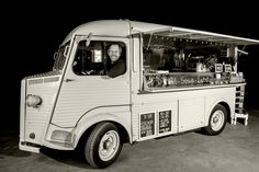 """Kamiel"""" is an electrically powered Citroen HY from 1953. """"Kamiel"""" can be used as a food truck and as a promotional vehicle."""