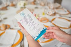 minuta de boda personalizada inspirada en la Ruta 66