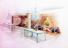 Perspectiva para decoração de interiores