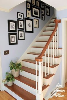 Refinished Staircase - On Sutton Place tips for steps (every other) and painting / buying hinges and hardware