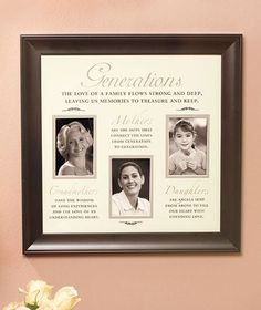 generations photo frames abc distributing - Mother Daughter Picture Frame