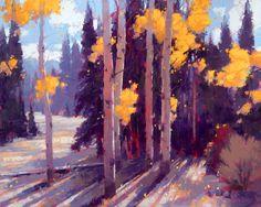 "David Mensing Fine Art - ""Whispered'' (24x30) Late October on Mt. Harrison Albion Idaho."
