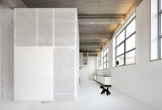 Ventilated volumes made of solid and perforated sheet metal. Loft FOR by adn architectures.