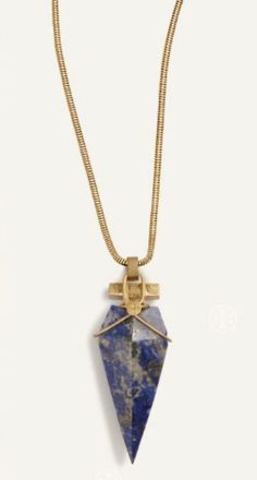 Straight from the runway: The Arrowhead Stone Pendant Necklace | www.toryburch.com/runway