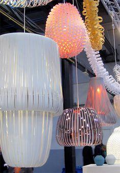 paula arntzen's paper lighting: intrinsic perfection