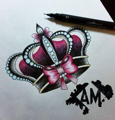 ¿Quién se siente una princesa? Si lo quieres para tattoo, mándame un privado…