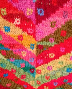 Emma Vining Hand Knitting: Kaffe Fassett and Colour Inspiration. #knit #color