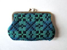 Coin Purse Welsh Wool tapestry kiss lock coin by MySoftParade