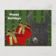 Shop Black Llama Farm Animal Christmas Holiday created by SmilinEyesTreasures. Personalize it with photos & text or purchase as is! Holiday Postcards, Holiday Cards, Christmas Cards, Llama Christmas, Christmas Holidays, Black Animals, Farm Animals, Cute Llama, Postcard Size