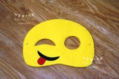Emoji Inspired Masks Emotions Masks Mobile phone emoji Phone Emoji, Embroidery Thread, Cool Kids, Masks, Felt, Inspired, Etsy, Inspiration, Biblical Inspiration