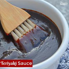 Teriyaki Sauce can be made into a teriyaki marinade or glaze. Perfect for teriyaki chicken, easy stir fry recipe or even making homemade beef jerky. Receta Salsa Teriyaki, Chicken Teriyaki Sauce, Molho Teriyaki, Teriyaki Stir Fry, Teriyaki Glaze, Teriyaki Marinade, Chicken Steak, Marinade Steak, Chicken Kabobs
