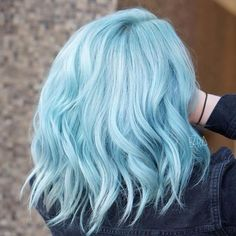 14 Pastel Hair Colors That Will Make You Consider Dying Your Hair - Pastel Hair. - 14 Pastel Hair Colors That Will Make You Consider Dying Your Hair - Hair Dye Colors, Hair Color Blue, Cool Hair Color, Icy Blue Hair, Pastel Hair Colors, Light Colored Hair, Light Blue Ombre Hair, Colorful Hair, White Hair