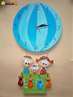 anjelicek / Hodiny balon Clock, Wall, Home Decor, Watch, Decoration Home, Room Decor, Clocks, Walls, Home Interior Design
