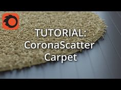 This tutorial shows how to utilize Corona Scatter to create a simple carpet 3d Max Vray, Carpet, Make It Yourself, Simple, 3ds Max, Modeling, Adobe, Youtube, Arch