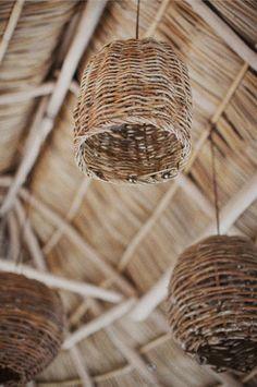 Sayulita wedding of this modern romance photography - Kitchen Decoration Rattan Lampe, Diy Luminaire, Basket Lighting, Modern Romance, Wicker Furniture, Home And Deco, Lamp Shades, Light Shades, Rustic Kitchen