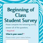 Yeah...start thinking about it now!   Beginning of Class Survey