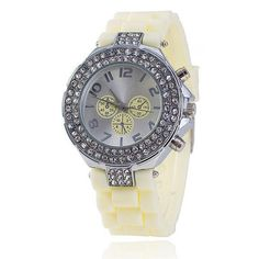 Womens Cool Crystal Jelly SIlicone Casual Watch