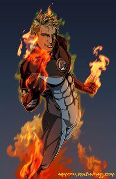 the Human Torch by Ammotu.deviantart.com on @DeviantArt