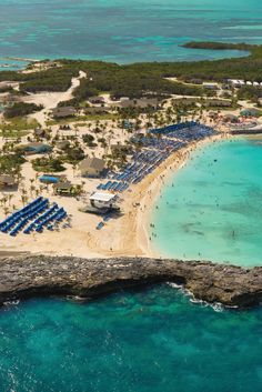 Norwegian Cruise Line's private island- Great Stirrup Cay, Bahamas http://cruiserunners.com