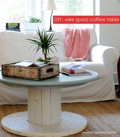 DIY: Wire spool coffee table
