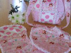 Handmade Baby Girls Rag Quilt Diaper Bag  by ForKeepsBabyBoutique, $35.00