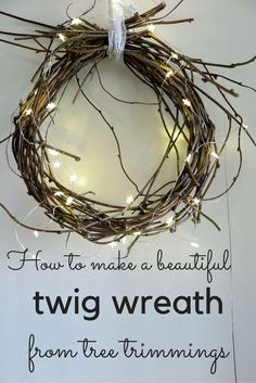 Article: A twig wreath is easy, quick and stylish. And it's free, if you use your garden trimmings. Now is a good time to prune many trees, shrubs and climbers. So before you dispose of your...