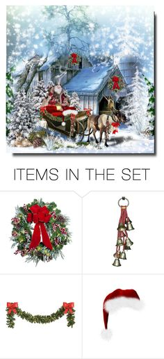 """""""Santa's Ride"""" by cathy1965 on Polyvore featuring art"""