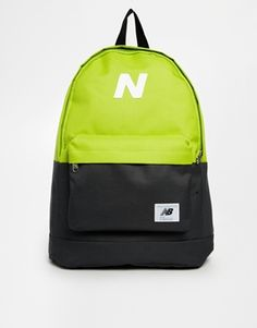 New Balance Mellow Backpack in Lime Colour Block