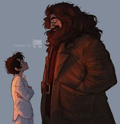 Harry Potter and Hagrid Who doesn't like some good old Harry Potter fanart!!