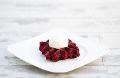 RED VELVET (Cream Cheese Frosting) Velvet Cream, Red Velvet, Cream Cheese Frosting, Waffles, Strawberry, Meat, Drink, Fruit, Food