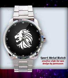 New Rare Lion head Tattoo Sport Metal Watch