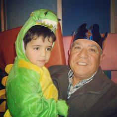 El abuelo y el nieto, en la celebración del día del padre
