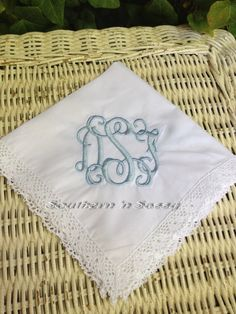 A personal favorite from my Etsy shop https://www.etsy.com/listing/208926779/brides-something-blue-monogrammed