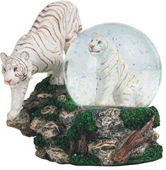 This gorgeous inch two white Tigers snow globe has the finest details and highest quality you will find anywhere! inch two white Tigers snow globe is truly remarkable. inch two white Ti. Snow Globes For Sale, Christmas Snow Globes, Globe Image, Tiger Artwork, Musical Snow Globes, Water Globes, Hand Pipes, Glass Paperweights, Handmade Home Decor