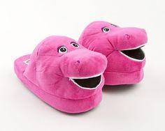 Barney The Purple Dinosaur Slippers   Character & Cartoon Slippers   BunnySlippers.com