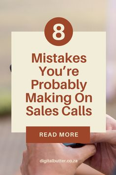 If you are looking to grow your business through sales calls. We have listed the 8 mistakes you are probably making on sales calls and how you can change them to grow your business today! #websitemarketing #copywritingtips #copywritingmarketing #websitetips #digitalmarketing #salesmarketing #marketingadvice #marketingtips #salestips Content Marketing Strategy, Small Business Marketing, Sales And Marketing, Business Tips, Online Business, Marketing Quotes, Marketing Ideas, Seo Tutorial, Sales Tips