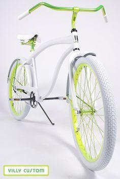 #Neon #Green  #White  villycustoms.com