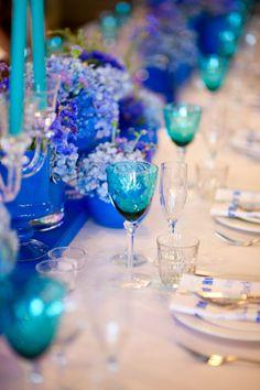 Love the aqua and royal blue together.
