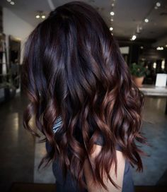 Hair Color For Black Hair, Cool Hair Color, Brown Hair Colors, Black To Brown Ombre Hair, Autumn Hair Colors, Brown Highlights On Black Hair, Trendy Hair Colors, Dark Ombre Hair, Grey Blonde