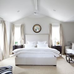 Vaulted Ceiling Bedroom, Transitional, bedroom, Ashley Goforth Design