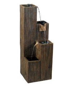 Another great find on #zulily! Wood Grain Serene Forest Indoor/Outdoor Fountain #zulilyfinds