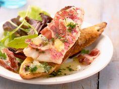 Klein maar fijn: 10x crostini en bruschetta - Libelle Lekker Bruchetta, 20 Min, Prosciutto, Food To Make, Seafood, Bbq, Sandwiches, Tasty, Healthy Recipes