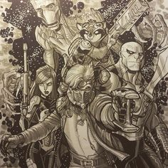 Guardians of the Galaxy by Nick Bradshaw *