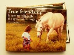 Girls And Horse Sayings | horse true friendship fridge magnet by leanin tree horse true ...